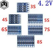 3S 4S 5S 6S фотоаппаратов моментальной печати 7S 8S 21V 4,2 v Li-Ion балансировки доска 18650 литий-ионный аккумулятор e-новые полного заряда аккумулятора б...