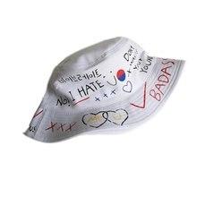 Bucket Hat Fishing Outdoor Hip Hop Graffiti Cap Mens Summer Fisherman Children Adult Cool Sun hat