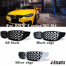 A pair Front Kidney Grille For BMW 4 Series M3/M4 F32/F8X Diamond Grille Meteor Style Front Bumper Grill Car Styling e90 e91 m3 style grill abs front bumper grille for bmw 3 series 2008 2011 4 door sedan 5 door wagon