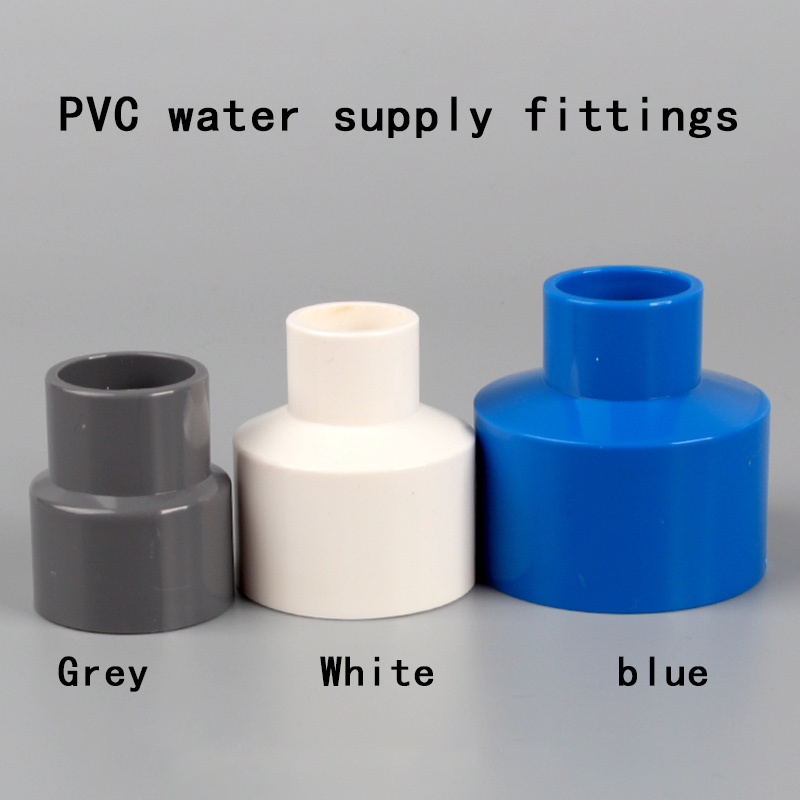Reducer Joint PVC Water Supply Fittings Fitting Reducing Straight Connectors Garden Water Pipe Connector PVC Pipe Fittings 1 Pcs
