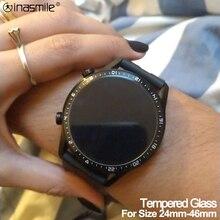 หน้าจอป้องกันฟิล์มสำหรับนาฬิกา Garmin เส้นผ่านศูนย์กลาง24มม. 46มม.กระจกนิรภัยสำหรับ Samsung Galaxy สำหรับ huawei Watch Series