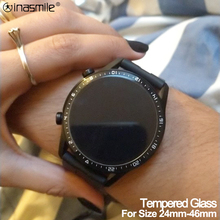 Screen protector film for Garmin watch Diameter 24mm 46mm Round Tempered Glass cover for Samsung galaxy for Huawei watch series