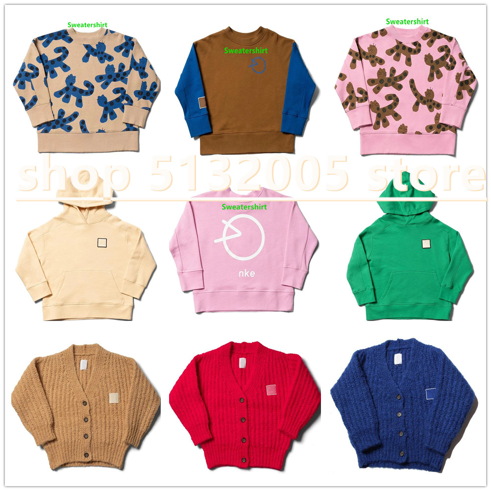 2020 AW New British Style WYK Pure Color Wool and Cotton Blended Sweater Boys Winter Tops  Girls Sweaters