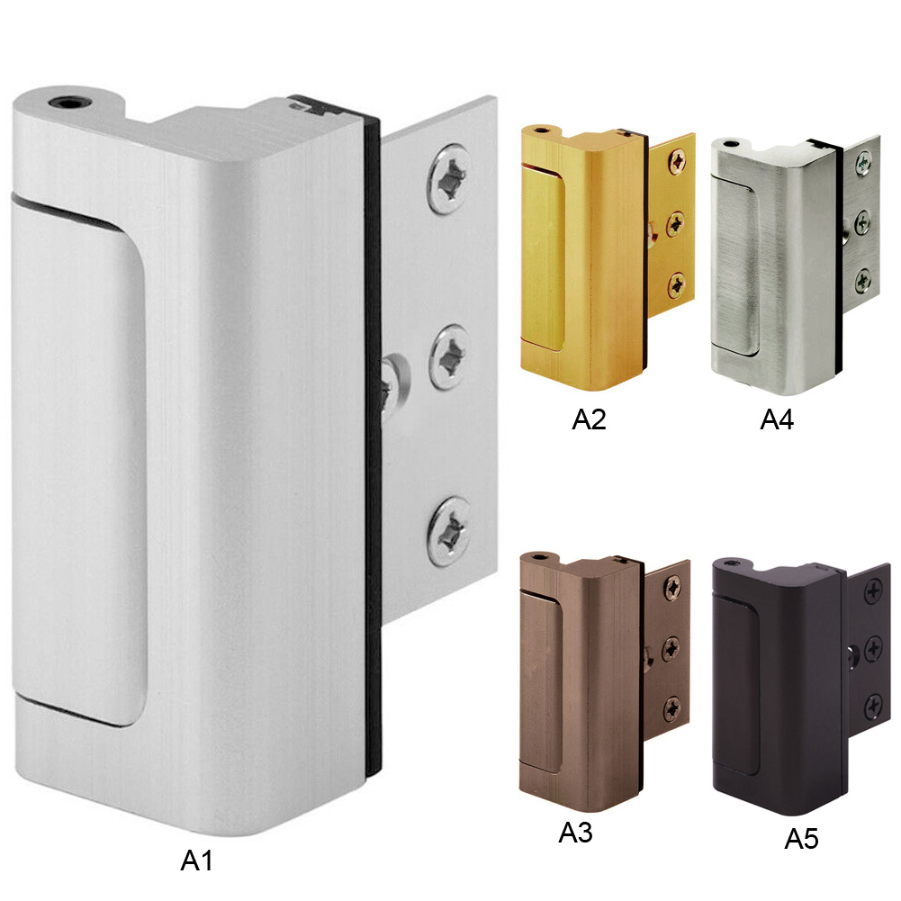 Aluminium Alloy U Door Reinforcement Lock Defender Security Door Stopper New