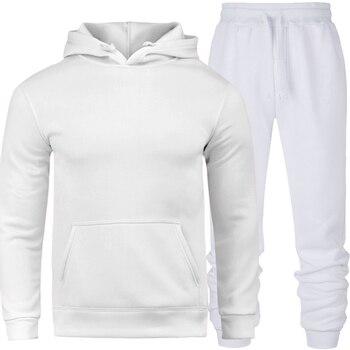 2019 brand sporting suit men warm hooded tracksuit track men's sweat suits set letter print large size sweatsuit male 2XL sets 1