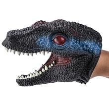 Динозавр ручной Куклы s ручной Моделирование куклы ролевые игры реалистичные голова динозавра перчатки мягкие игрушки для детей ручной Куклы# A20