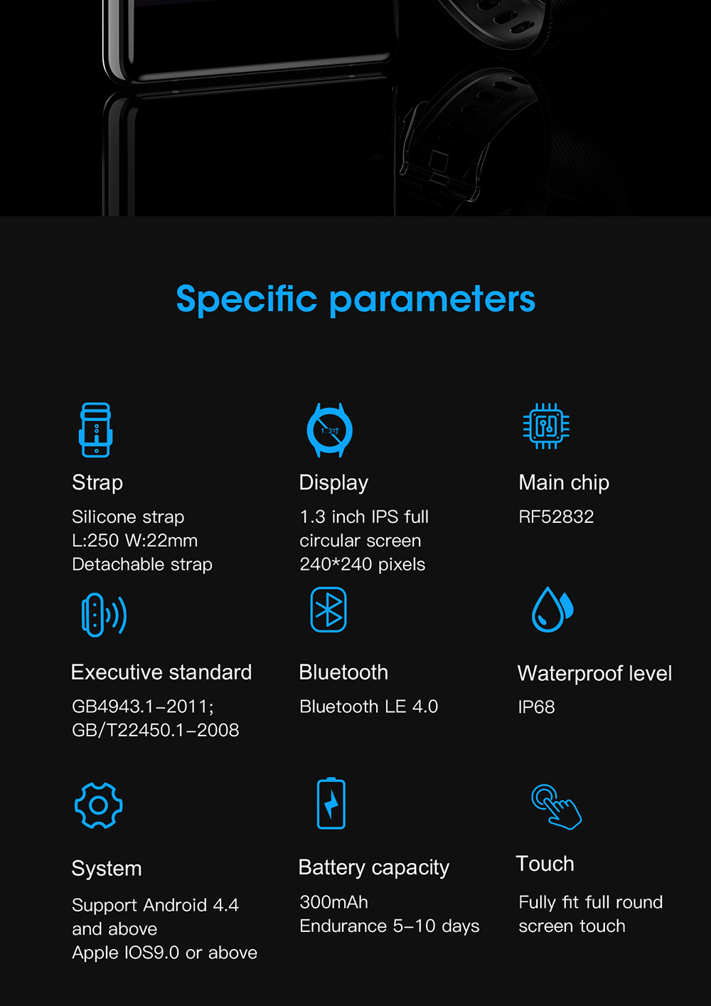 Hdc09363f15324ec9a5d9f72b14eb5ea4Q 696 L9 Full touch Smart Watch Men ECG+PPG Heart Rate Blood Pressure oxygen Monitor IP68 Waterproof Bluetooth Smart Bracelet