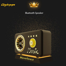 COJINMA Retro Bluetooth Speaker,Vintage FM Radio,Strong Bass Enhancement,Loud Volume,Bluetooth 5.0 Wireless Connection,TF Card