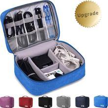Sac organisateur d'accessoires électroniques, sac de rangement de voyage universel pour chargeur Portable, câbles, écouteurs, sous-vêtements