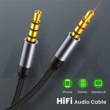 3.5mm jack cabo de áudio jack 3.5mm macho para macho áudio aux linha de alto-falante cabo aux para samsung carro fone de ouvido computador