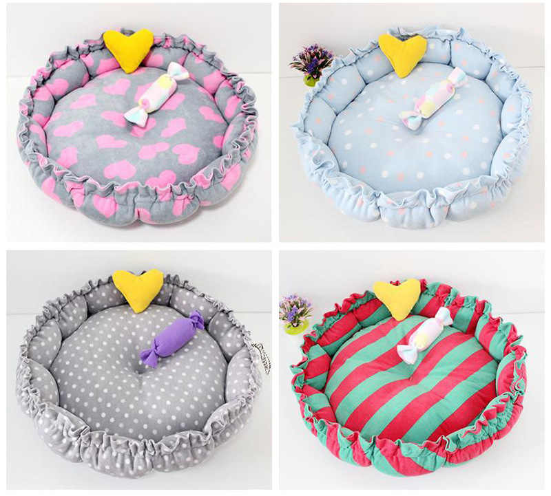 2 Sizes Colorful Mini Puppy Dog Beds Soft Comfortable Cat Mats Teddy Keji Pet Products Bulldog