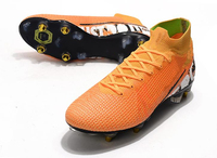 Sapatos de futebol New Fashion Adults Soccer Shoes Outdoors Grass SG Football Shoes and Long Spike Shoes SG Cleats Shoes