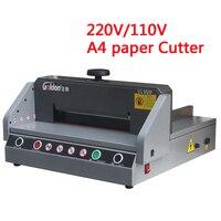 Cortador de papel elétrico profissional tamanho a4 desktop guilhotina papel máquina corte trimmer papel 220 v/110 v qz330