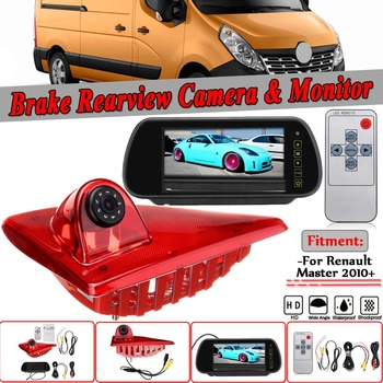 Car Reverse Camera System LED IR Brake Light For Renault Master Rear View Reversing Parking Camera & 7 Inch Monitor Camera Kit
