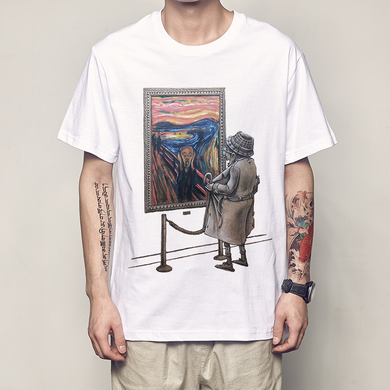 2019 Men Trend T Shirt Spoof Abstract Pattern Print Funny Funny Expression Pack Men Shirt Cool T Shirt M-3XL Code Men T Shirt