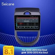 ซีเทอร์ Android 9.1 9 นิ้ว Double DIN วิทยุรถ GPS มัลติมีเดียเครื่องเล่นสำหรับ 2010 2011 2012 2013 Kia SOUL สนับสนุน DVR SWC