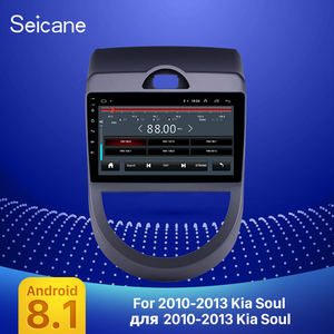 Image 1 - Seicane Android 9.1 9 inch Double Din Car Radio GPS Multimedia Unit Player For 2010 2011 2012 2013 Kia Soul support DVR SWC