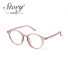 Story Fashion Blue Light Round Computer Glasses For Women Men 2020 Crystal Pink