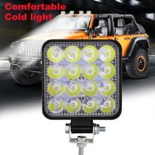 цена на Work LED Light Bar 48W Car Light Bright Beam 12v 24v Led For Jeep ATV UAZ SUV 4WD 4x4 Truck Tractor Off-road Spot Light