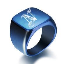 Модные Синие оригинальные кольца с перьями для мужчин 18 мм