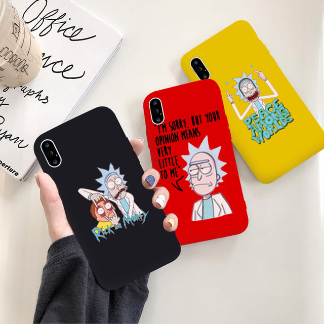 FUNNY RICK AND MORTY IPHONE CASE (9 VARIAN)