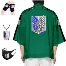 Anime attack on titan quimono kimono roupas casuais cosplay traje shingeki no kyojin survey corpo manto casaco атака титанов