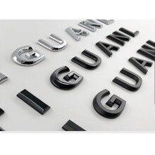 Для TIGUAN автостайлинг установка Средний капот багажник логотип значок наклейка хром матовый глянцевый черный 3D шрифты эмблема