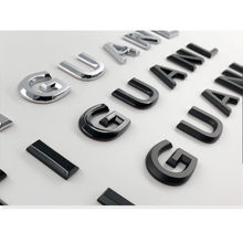 Para tiguan estilo do carro remontagem capô médio tronco logotipo emblema adesivo cromo fosco brilhante preto 3d letras fonte emblema