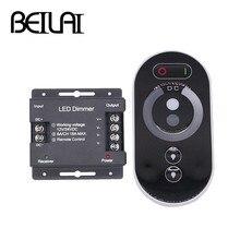 Beilai Dc 12 24V 6A/Ch 3 Kanaals Enkele Kleur Zwart Rf Led Controller Full Touch Afstandsbediening controller Voor Led Strip Licht