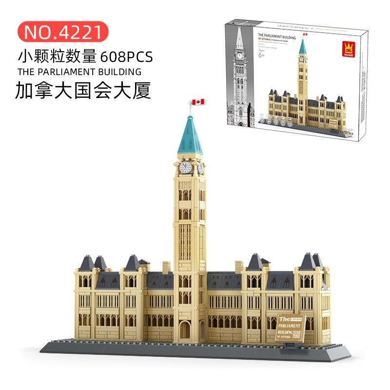 Wange Blocks 608PCS Architecture Canadian Parliament Building Model Toy Bricks Juguetes Kids Toys for Children Gifts 4221