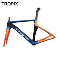 Tropix 22 Speed High Quality Carbon Fiber Road Bicycle Frame C Brake BB86 Ultralight 700C Road Bike Frame Fork+Seatpost+Headset