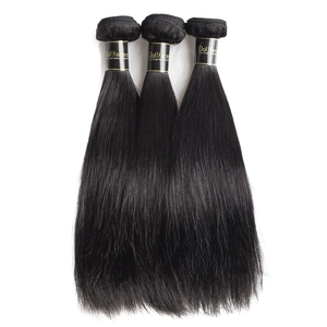 Image 3 - brazilian hair extension bundles 8 to 30 40 inch human hair bundles with closure non remy natural straight short long hair weave