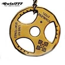 oulai777 men necklaces steering wheel pendants wholesale stainless steel hip hop chain on the neck male Accessories