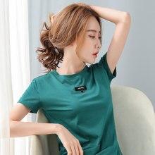 BOBOKATEER Haut Femme Elegant Short Sleeve Cotton T Shirt Women T-shirty Damskie Mujer Camisetas Plus Size Tshirts Woman Tops