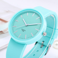 Watches Candy Color Wrist Silicone Jelly Watch SF