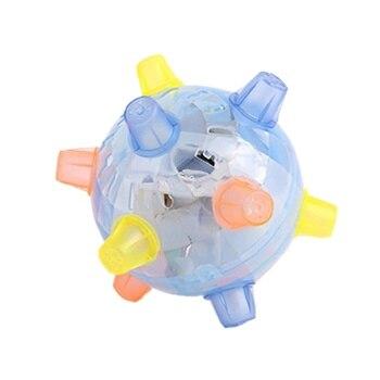 LED Jumping Joggle Sound Sensitive Vibrating Powered Ball Game Kids Flashing Ball Toy