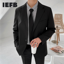IEFB /men's wear Korean style casual small suit coat 2021 spring handsome single breasted blazer coat trendy clothes male 9Y3448