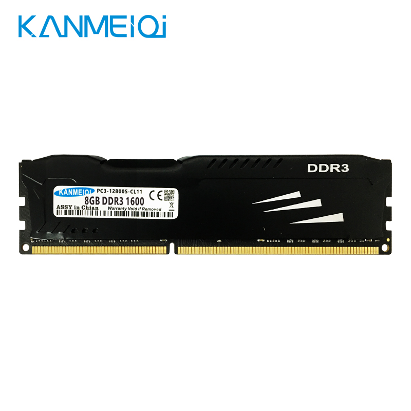KANMEIQi DDR3 Ram 8GB 1600MHz 4gb 1333/1866MHz Desktop Memory With Heat Sink Dimm Memoria 240pin 1,5v