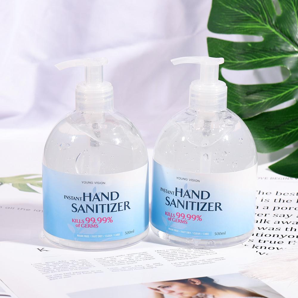 Hand Sanitizer Gel 500ml  Anti-Bacteria Moisturizing Liquid Disposable No Clean Waterless Antibacterial Hand Gel