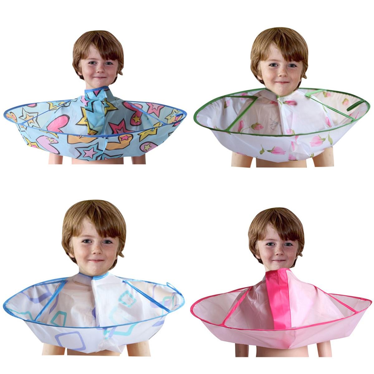 Kids Foldable Hair Cutting Cloak Umbrella Salon Barber Gown Cloth Cape