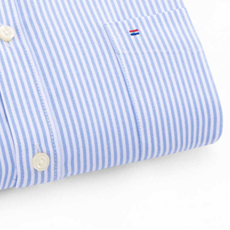 BOLUBAO ブランド高品質男性シャツスリムフィット男性ファッションシャツ男性のストライプ長袖ストリートカジュアルシャツ