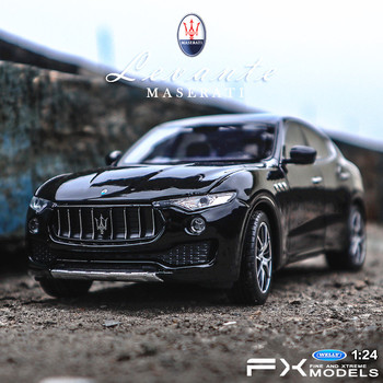 Welly 1:24 Levante SUV alloy car model Diecasts & Toy Vehicles Collect gifts Non-remote control type transport toy welly 1 36 hyundai santafe suv alloy car model pull back vehicle collect gifts non remote control type transport toy