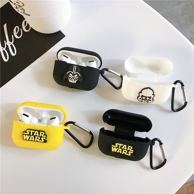 Star Wars Last Jedi Samurai Warrior Darth Vader Headphone Cases For Apple Airpods Pro 3 Soft Silicone Protective Headset Cover