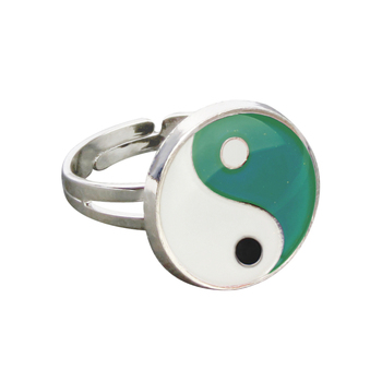 Yinyang Mood Ring Color Change Mood Ring Adjustable Emotion Feeling Changeable Temperature Ring 1PC Dropshipping 5