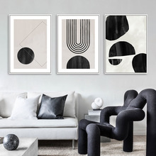 Modern Abstract Geometric Wall Art Canvas Painting Black White Poster Print Pictures Scandinavian Style Living Room Home Decor