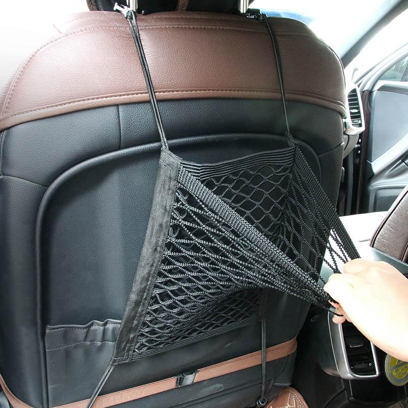 Car Seat Mesh Organizer Storage Cargo Net Pockets Luggage Hook Pouch Holder S55