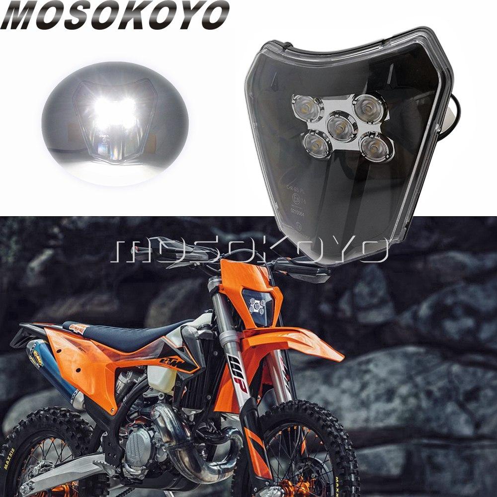 E-MARK E8 LED Visor Headlight Enduro Dual Sport Front Running Light For Husqvarna TE TC FE TX 250 350 450 KTM EXC Six Days TPI