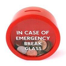 Porquinho de cofrinho com design exclusivo, caixa de maconete vermelha seguro para economizar moedas de emergência, banco de porquinho, 11.5*11.5*5 cm