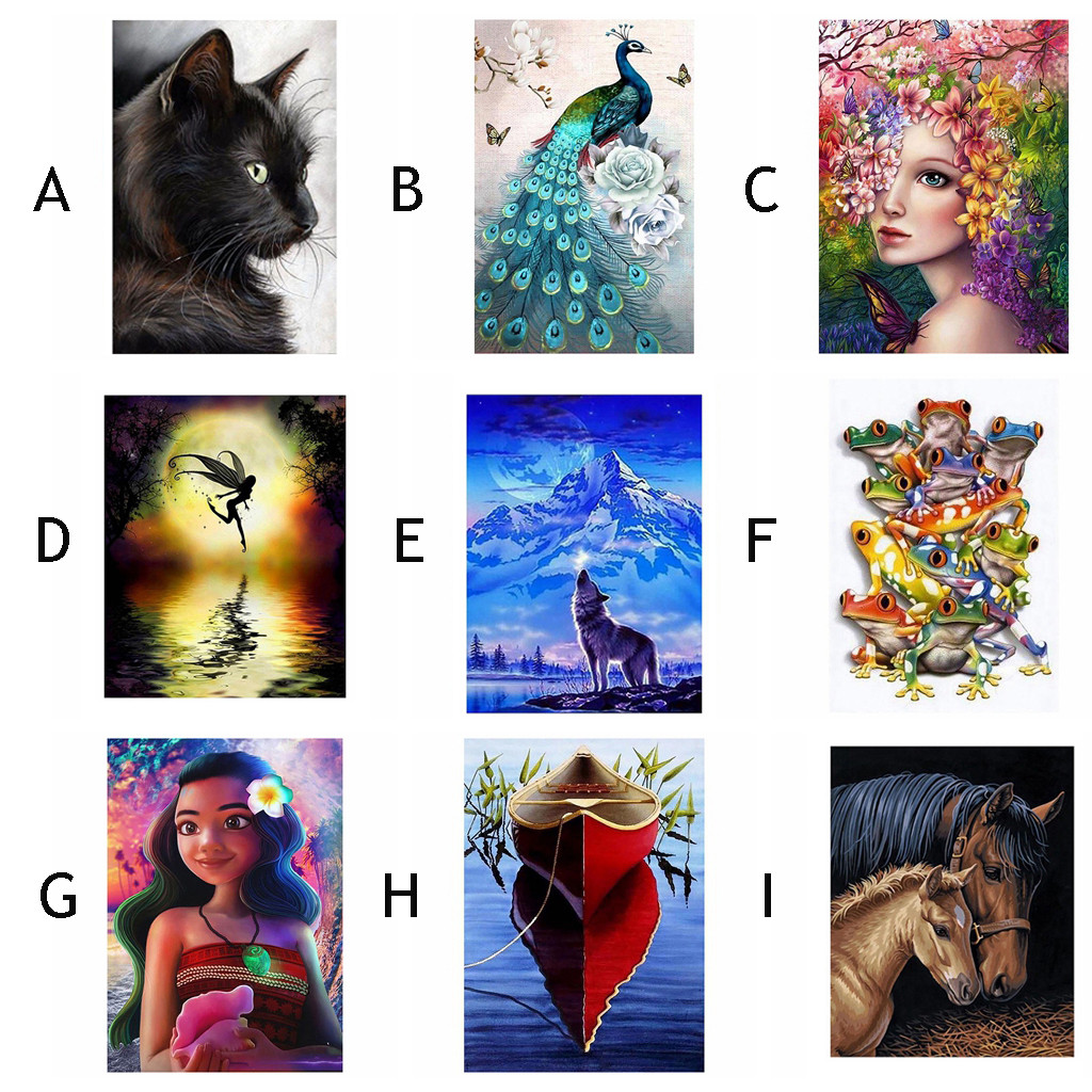 11.81x15.74 inch, G 5D Embroidery Paintings Rhinestone Pasted DIY Diamond Painting Cross Stitch