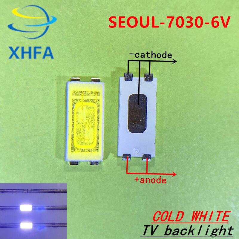 1000 шт., светодиодный светильник с подсветкой, 1 Вт, 7030, 6 в, холодный белый, 90-100лм, ЖК-подсветка для ТВ-телевизора, приложение STWBX2S0E,